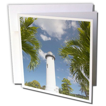 Puerto Rico, Rincon, Punta Higuero Lighthouse - Greeting Card, 6 x 6 inches, single (Puerto Rico Lighthouses)
