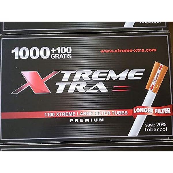 8800 Tubos tabaco liar con filtro extra largo Xtreme Xtra 24mm (ocho cajas de 1000+100): Amazon.es: Salud y cuidado personal