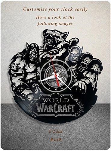 Warcraft vinyl clock, world of warcraft vinyl wall clock, vinyl record clock, online multiplayer rpg mmorpg blizzard game fantasy wall art home decor kids gift 149 - (c2) (Best Mmorpg In The World)