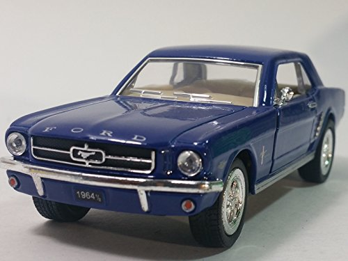 Kinsmart Sky Blue 1964 1/2 Ford Mustang Hardtop 1/34 Scale Diecast Sports Car