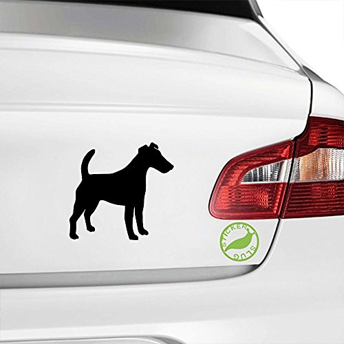 Smooth Fox Terrier Decal Sticker (black, 8 inch, reversed) (Smooth Fox Terrier Sticker)
