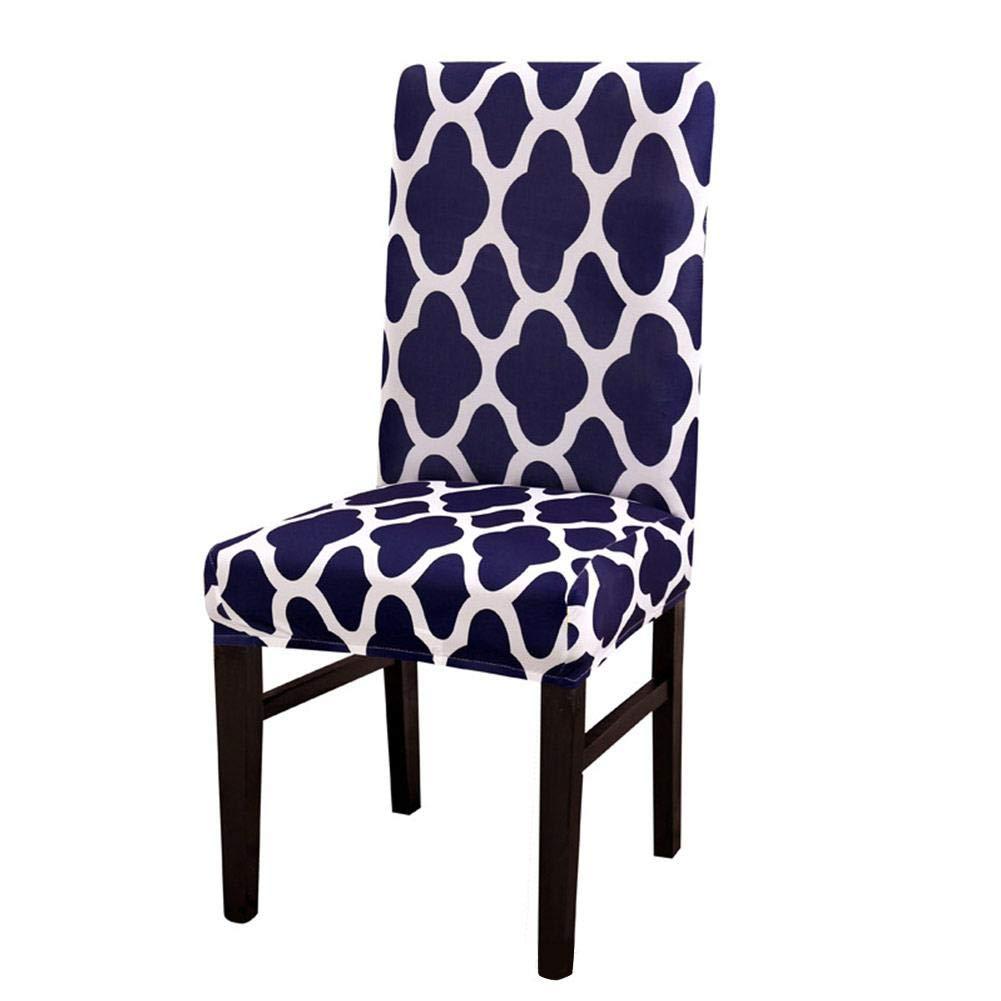 Killypo Couverture de Chaise Housse de Chaise Tout Compris /Élastique Motif G/éom/étrique Housse de Chaise pour D/écoration de Chaise Moderne