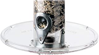 product image for Droll Yankees Bird Feeder Tray, Platform Seed Catcher Accessory Attachment, 7.5 Inch Diameter, Clear, A-6T