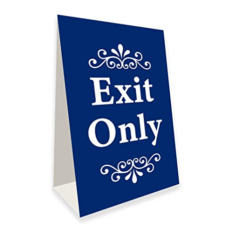 Amazon.com: Exit Only - Cartel con marco en A (24.0 in de ...