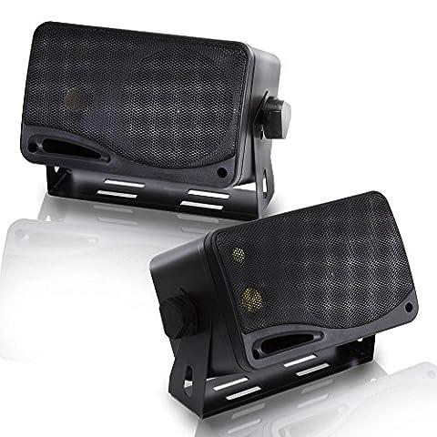 Pyramid 2022SX 200-Watt 3-Way Mini Box Speaker System (Car Speakers)