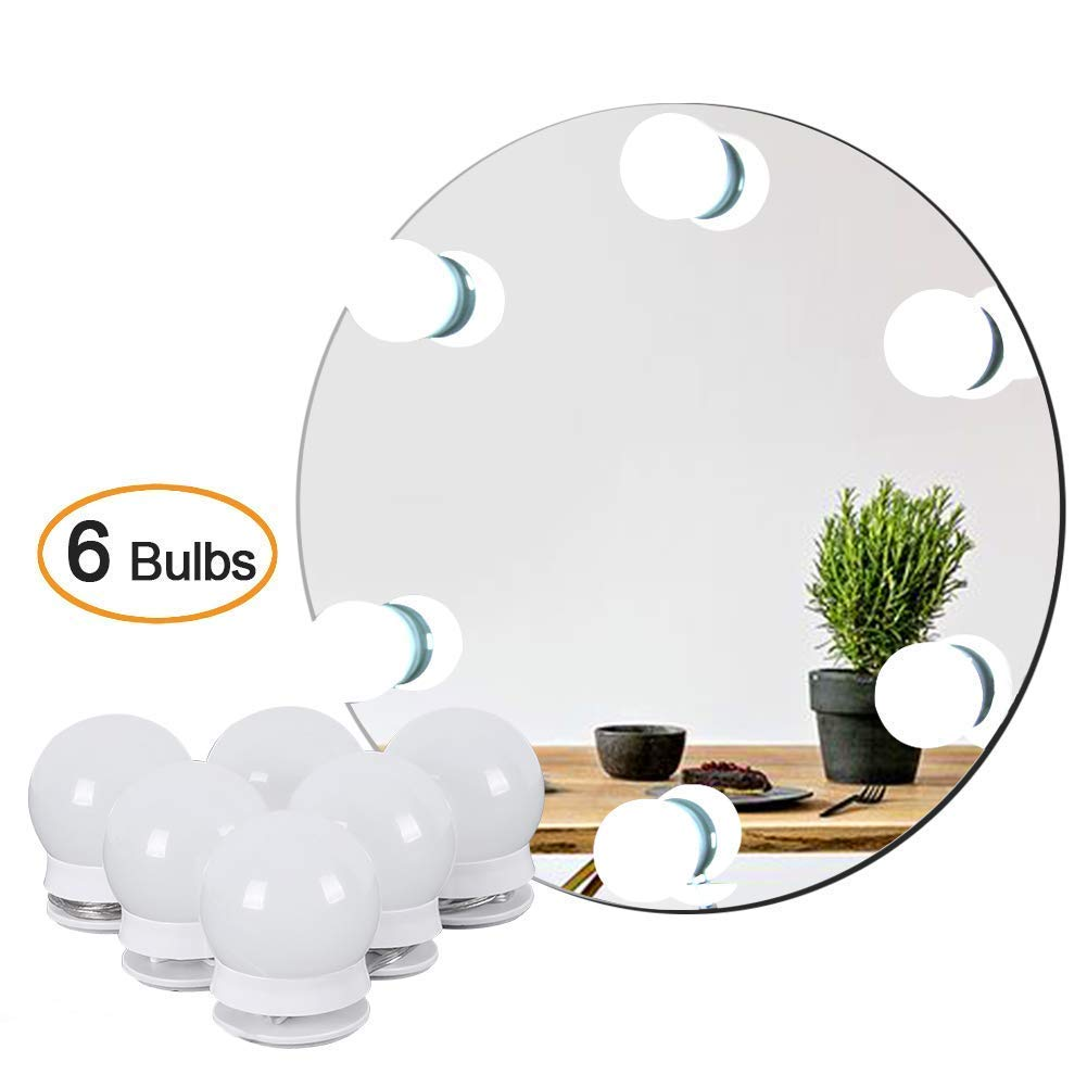 Waneway Kit De Lumire LED Pour Miroir Courtoisie Style Hollywood Maquillage Lampe Cosmtique Coiffeuse Table6 Ampoules