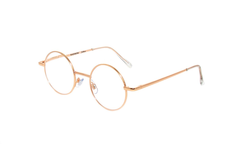 Rainbow safety Gli Occhiali Presbiopia per Lettura Uomini Donne Rotondi Retro Stile Lennon Uomini Donne John +2.00D