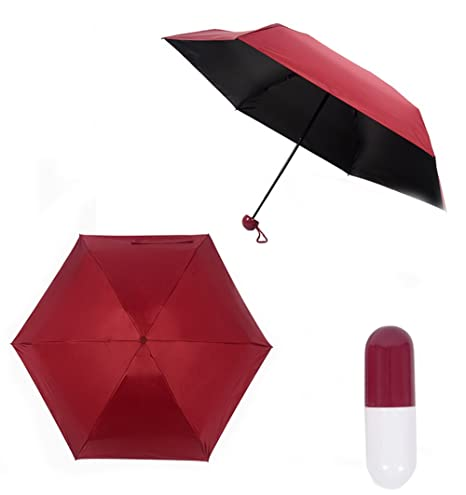 LOVE STUDIO,Paraguas de bolsillo Nuevo paraguas de sombrilla creativa Umbrella paraguas UV Small Fresh