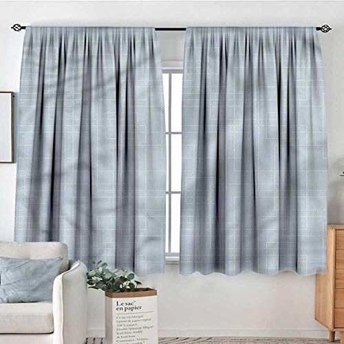 (RenteriaDecor Contemporary,Kitchen Curtains Grid Style Rectangles 104