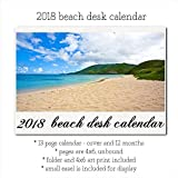 2018 Coastal Beach Desk Calendar With Stand Tropical Shoreline Photos