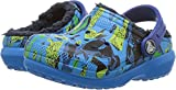 Crocs Kids' Classic Lined Graphic Clog - K, Ocean/Navy, 8 M US Toddler