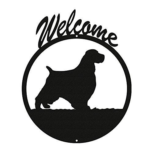 English Springer Spaniel Black Metal Welcome Sign ~New~