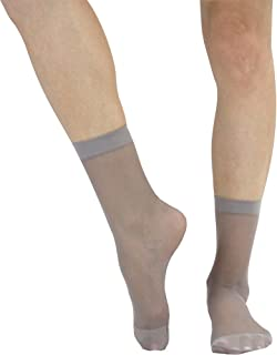 1421f3149 ToBeInStyle Women's Pack of 6 Sheer Nylon Ankle to Mid-Calf Short Stockings