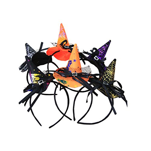 Halloween costumes, stage performances and mini bar decorated Halloween Witch Hat Cap(,3-pack) ()