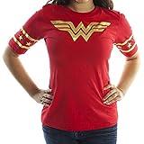 Wonder Woman Gold Foil T-Shirt - Womens Black Gold Logo Wonder Woman Shirt by Miracle