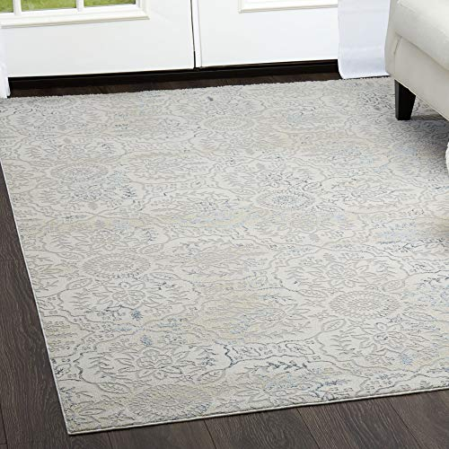 (Clearance Home Dynamix Brooksville Charleston Modern Area Rug, 5'x7', Ivory)