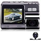 Vehicle Video Recorder Dash Cam Dual Lens 2.0 Inch Full HD 1080P Mini Car Camera DVR with Night Vision G-Sensor Tachograph Black Box for Car Driving Recorder