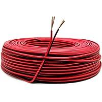 22AWG Cable Electronica,0,33mm2 Alambre Cobre Estañado,Cable Rojo Negro de PVC de 2 Núcleos para Conectores de Tira de…