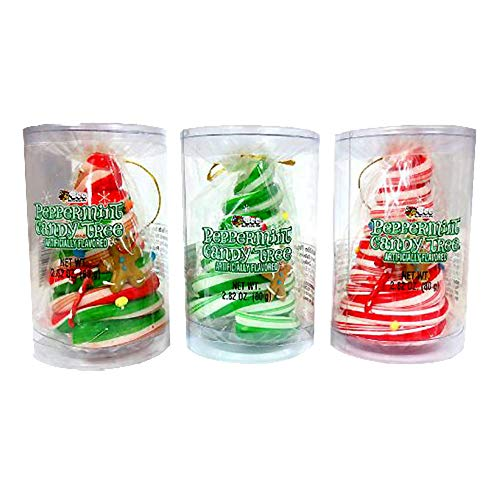 (Peppermint Candy Tree Ornaments (Pack of 3))