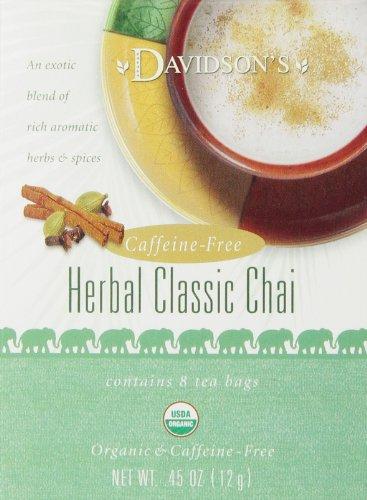 Davidson's Tea Herbal Classic Chai, 8-Count Tea Bags (Pack of 12)