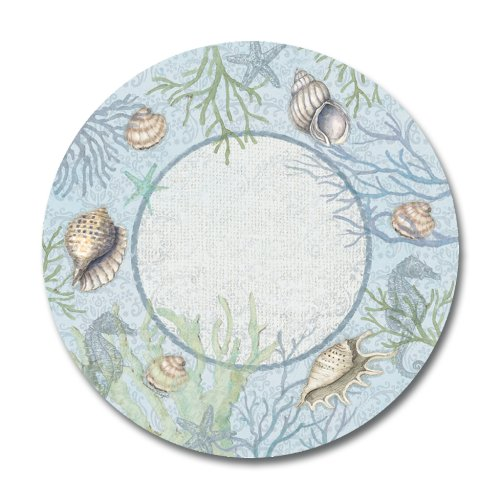 Melamine Plates Plastic Dinnerware Sets of Four Nautical Beach Shell 10 5/8 inches Round Pottery Weight  sc 1 st  Amazon.com & Beach Dinnerware: Amazon.com