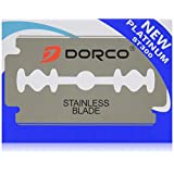100 Dorco ST300 Double Edge Razor Blades/ Stainless Steel