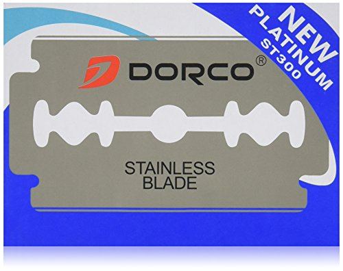 100 Dorco ST300 Double Edge Razor Blades/ Stainless Steel by Original Dorco - Edge Stainless Steel Razor