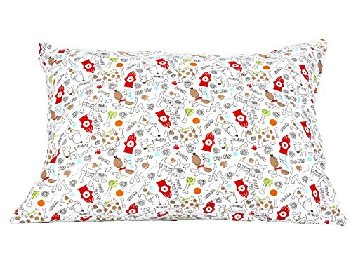 Designer Pillow Dog (BB MY BEST BUDDY Toddler Pillowcase- Firefighter dogs design for your kids - 13 x 18 - shrinks to fit - 100% cotton - naturally hypoallergenic and soft - Made in USA)