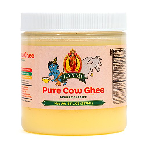 Laxmi Natural Traditional Indian Style Pure Cow Ghee - 8oz