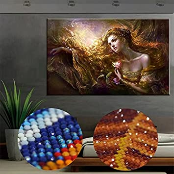 Handser Art - Diamond Painting Kit, Full Round Drills, Diamond Paintings by Number Kits, 5D Cross Stitch DIY Craft, American Flag Wall Decor Home Craft