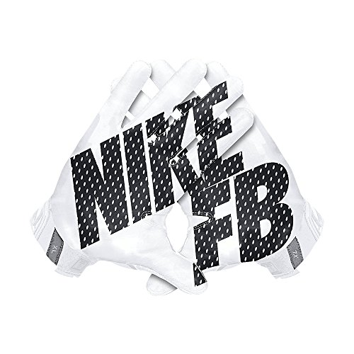Men's Nike Vapor Jet 3.0 Football Gloves White/Black Size Large (Vapor Gloves Football compare prices)