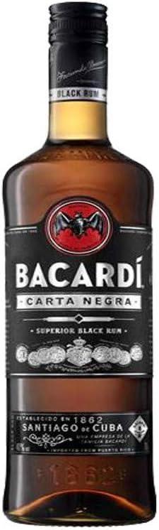 Ron - Bacardi Carta Negra 1L: Amazon.es: Alimentación y bebidas