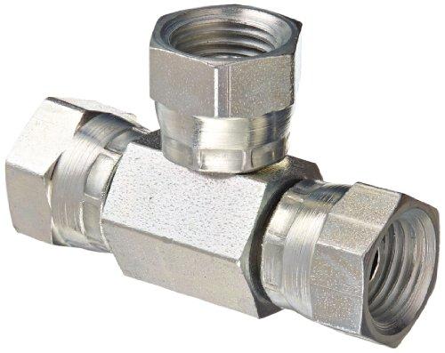 Eaton Weatherhead 9705X4X4X4 Carbon Steel Fitting, Swivel, Tee, 1/4