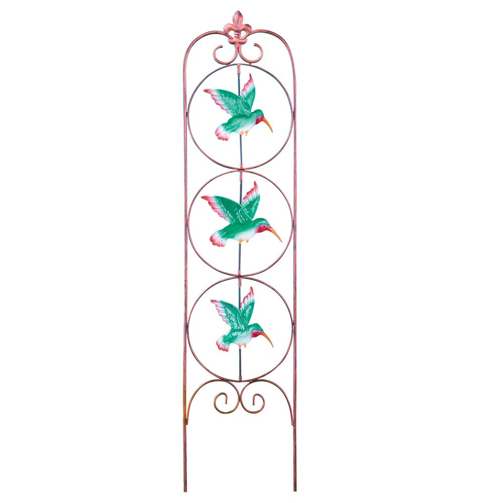 Collections Etc Spinning Hummingbirds Metal Garden Stake Lawn Ornament
