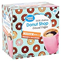 Deals on 48 Count Great Value Donut Shop Coffee Pods