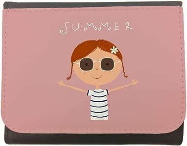 محفظة جلد  بتصميم ابتسم، مقاس 12cm X 10cm