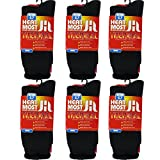 DEBRA WEITZNER Mens 6 Pairs Heavy Insulated Thermal Socks - 5X Warmer Thermal Boot Socks For Extreme Temperatures 4.7 Tog Rating