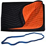 Forearm Forklift FFMBFRB 72'' x 80'' Full Size 2 Color Moving Blanket with Free Mover's Rubber Band