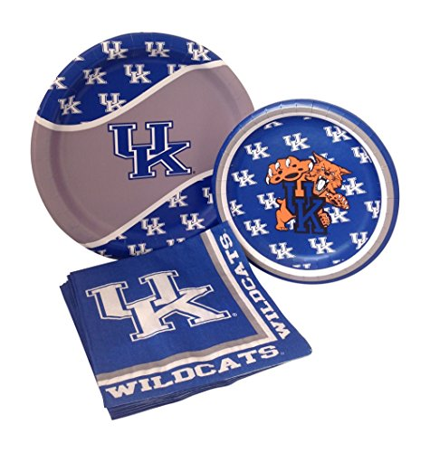 University of Kentucky Wildcats Party Supply Pack! Bundle Includes Paper Plates & Napkins for 8 (Party Supplies Uk)