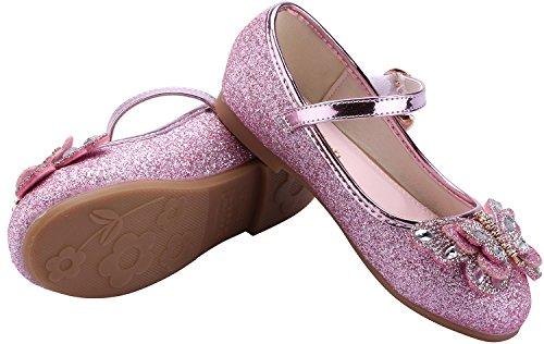 miaoshop Mädchen Ballerina flache Hochzeitskleid Schuhe Kinder Party ...