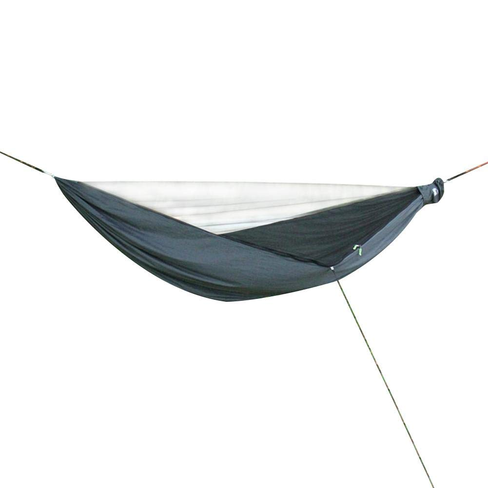 Hiplle Anti-Mosquito Swing Hammock, Automatic Quick-Open Camping Ridge Rope Hammock, Nylon Parachute Cloth Hammock for Outdoor and Camping