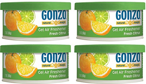 Cheap Gonzo Natural Magic Air Freshener Tin - 4 Pack - Citrus - Natural - Small Area - Home Car and ...