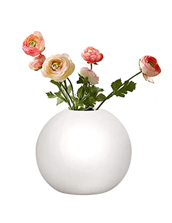 Buy Gelive Ceramic Bud Vase Decorative Round Flower Vase Hydroponics Container Reed Diffuser Floral Vases For Home Decor Centerpieces White Online At Low Prices In India Amazon In