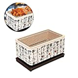 Anddoa 4 in 1 Japanese Korean Ceramic Hibachi BBQ Table Grill Yakitori Barbecue Charcoal Cooking Stove
