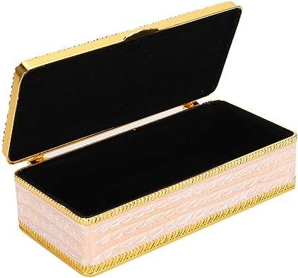 Salmue Joyero, Joyas universales Retro Collar Accesorios Embalaje Presente Caja Estuche de Regalo Pantalla Anillo Pendientes Collar Bracele: Amazon.es: Joyería