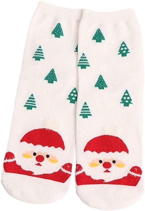 Dontdo - Calcetines tobilleros de algodón cálido para invierno con muñeco de nieve para mujer blanco blanco: Amazon.es: Bebé