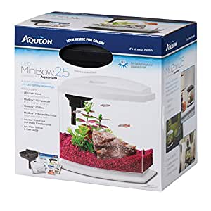 Aqueon betta bow led fish aquarium kit pet for Betta fish tanks amazon