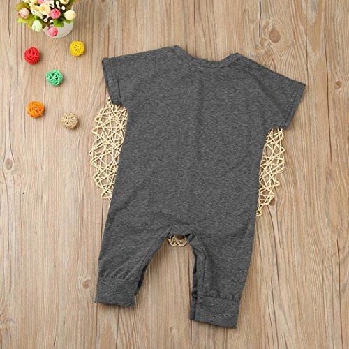 Ecurson Infant Newborn Baby Boys Short Sleeve Romper Jumpsuit (12--18Months)
