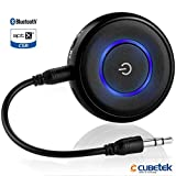 Cubetek 2 in 1 Bluetooth V4.1 Transmitter & Receiver, Wireless 3.5mm Adapter, For TV/PC/iPod/PSP/Playstation/Car Stereo Support aptX Low Latency, Model: CB-BTI-018