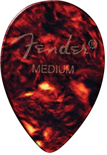 Fender 358 Shape Classic Celluloid Picks (72 Pack) for electric guitar, acoustic guitar, mandolin, and bass